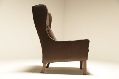 Borge Mogensen Style High Back Wing Chair