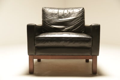 Mid-century Danish Leather Club Chair the vintage hub