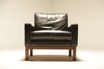 Mid-century Danish Leather Club Chair Scandinavian modern
