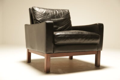 Mid-century Danish Leather Club Chair vintage furniture warehouse Dublin Ireland