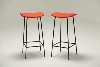 Pair of Program Stools by Frank Guille for Kandya vintage stools
