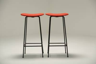 Pair of Program Stools by Frank Guille for Kandya mid-century bar stools
