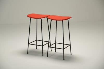 Pair of Program Stools by Frank Guille for Kandya the vintage hub