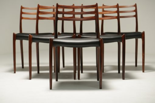 Niels Moller Rosewood Model 78 Dining Chairs vintage furniture Dublin