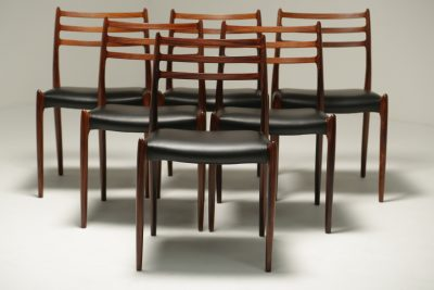 Niels Moller Rosewood Model 78 Dining Chairs mid-century furniture Dublin