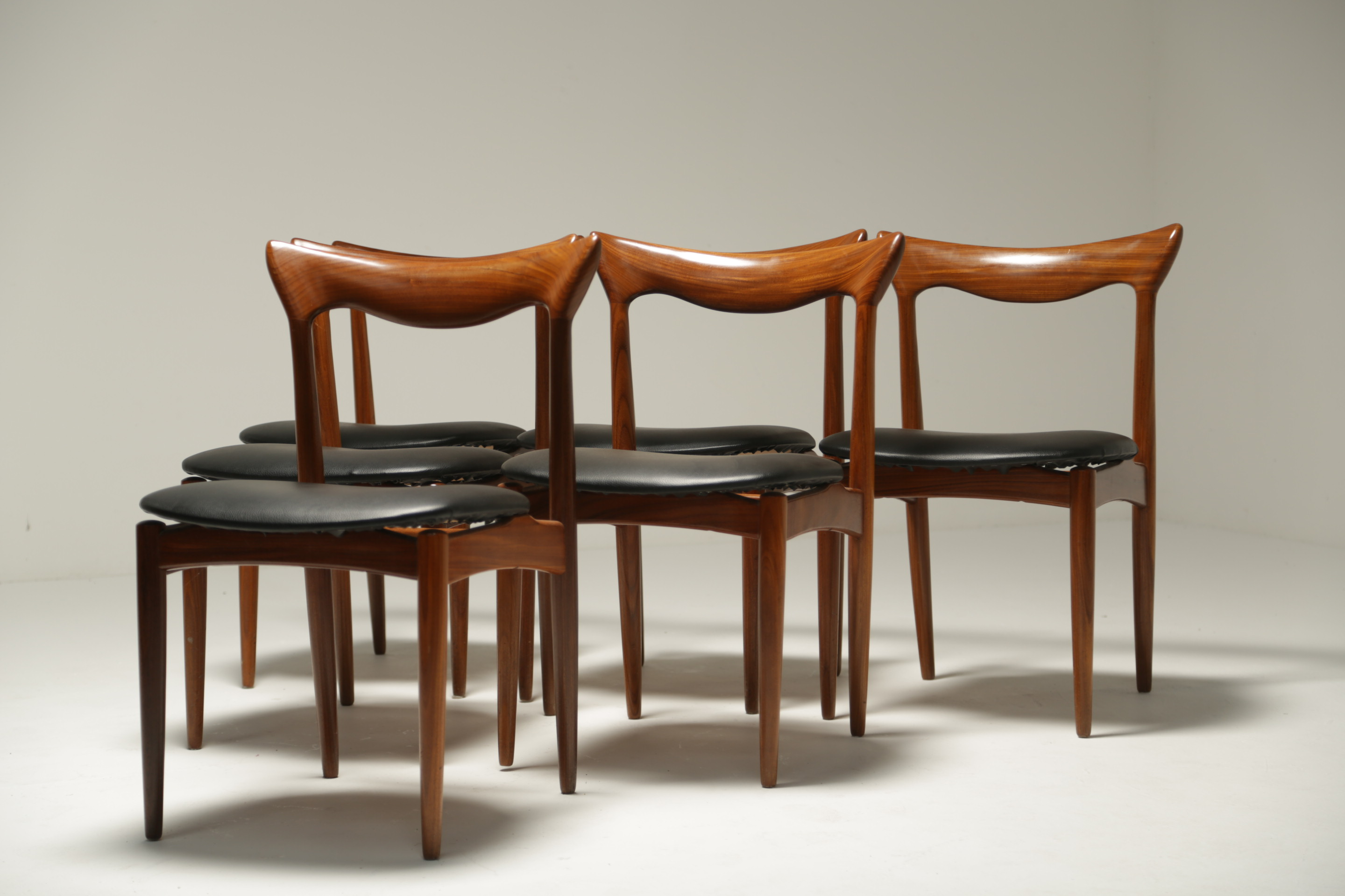 Teak Dining Chairs by H.W. Klein for Bramin. Set of 6.
