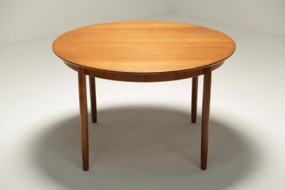 Large Teak Extending Dining Table by Dyrlund
