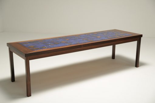Danish Rosewood Coffee Table With Tiles Vintage Mid Century Modern