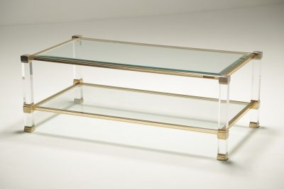 Pierre Vandel Gold Plated Coffee Table vintage furniture Dublin