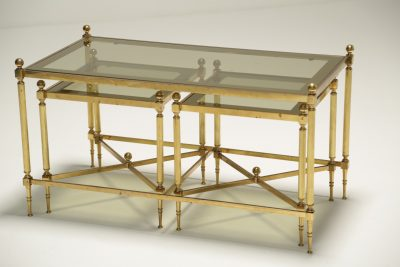 Hollywood Regency Brass Nest of Tables