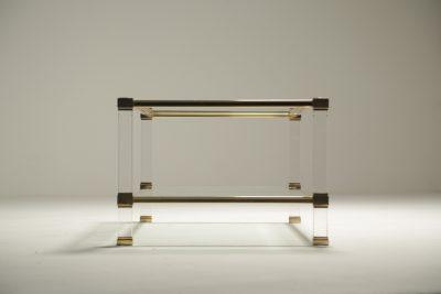 Pierre Vandel Gold Plated Coffee Table