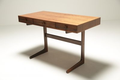 Georg Petersens Rosewood Desk with cantilever leg.