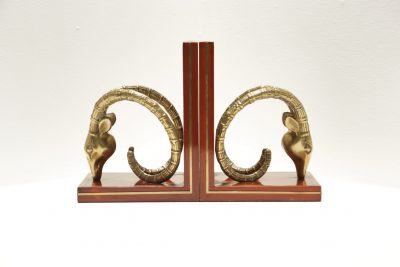 Mid-century Rams Head Bookends