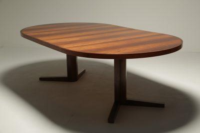 Rosewood Extending Dining Table by John Mortensen for Heltborg Mobler, Denmark