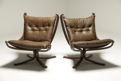 Pair of Falcon Chairs by Sigurd Ressell vintage furniture Dublin Ireland