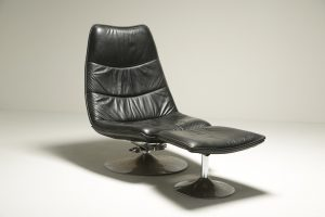 Geoffrey Harcourt Style Chair and Footstoo