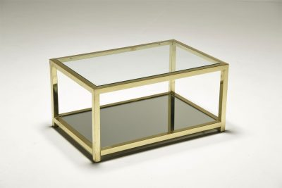 Vintage Brass 2 Tier Coffee table