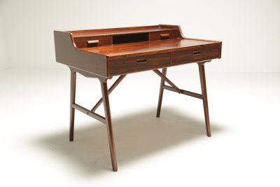 No. 56 Rosewood Desk by Arne Wahl Iversen for Vinde Møbelfabrik