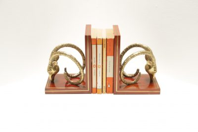 Mid-century Rams Head Bookends