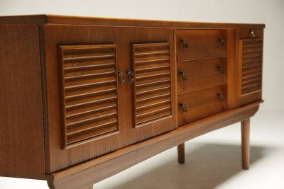 Teak Sideboard with Louvre Detail