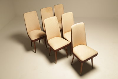 Italian High Back Dining Chairs