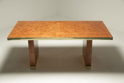 Pierre Cardin Burl & Brass Dining Table vintage furniture Dublin Ireland