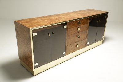 Brass and Glass 1970's Sideboard by Founders Furniture