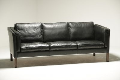 Borge Mogensen Style Leather Sofa danish modern sofa