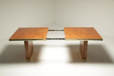 Pierre Cardin Burl & Brass Dining Table
