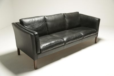 Borge Mogensen Style Leather Sofa the vintage hub