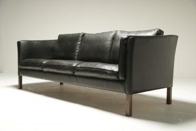 Borge Mogensen Style Leather Sofa the vintage furniture warehouse Ireland