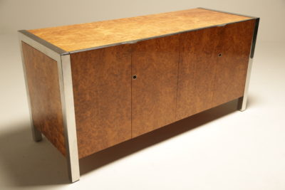 Walnut and Chrome Mid-century Sideboard