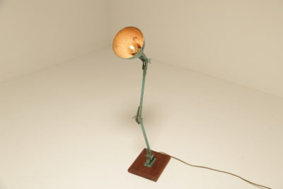 Articulated Industrial Factory Lamp with Original Paint