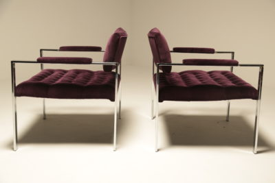 Chrome Lounge Chairs by Harvey Probber