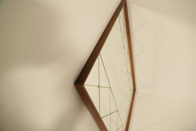 Mid-century Teak Harlequin Mirror