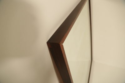 Large Swedish Rosewood Mirror by AB Glas & Tra