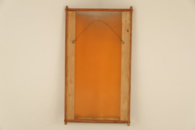 Swedish Teak Mirror with Japanese Seagrass Panel