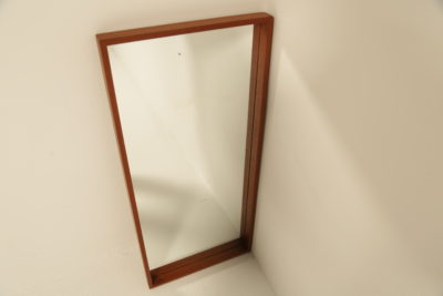 Swedish Teak Rectangular Frame Mirror