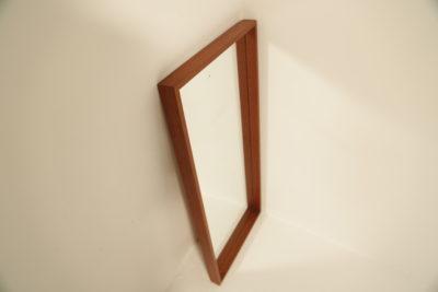 Swedish Teak Rectangular Frame Mirror