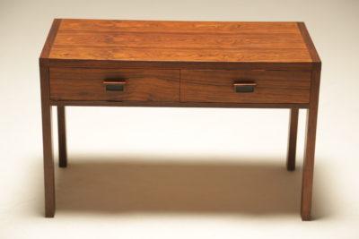 Rosewood 2 drawer Side Table Media Unit vintage mid century Danish