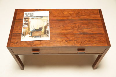 Rosewood 2 drawer Side Table Media Unit