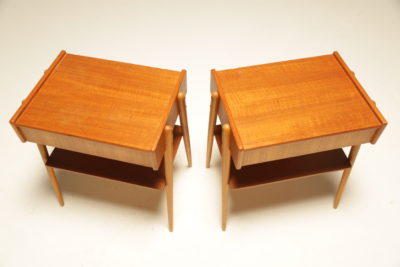 Teak Bedside Tables by AB Carlstrom, Sweden