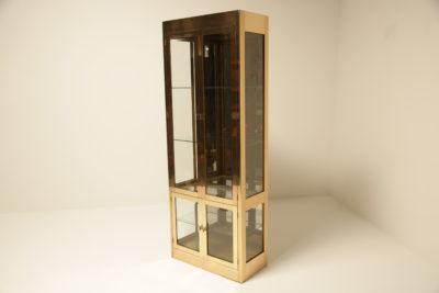 Mid-century Brass Display Cabinet Vitrine by Mastercraft