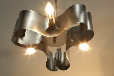 Triform Steel Lamp