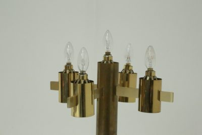 Brass and Glass Standard Lamp