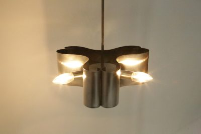 French Triform Steel Lamp