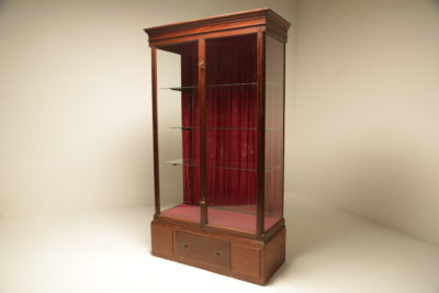 Victorian Mahogany & Brass Shop Display Cabinet