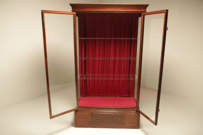Victorian Mahogany & Brass Shop Display Cabinet