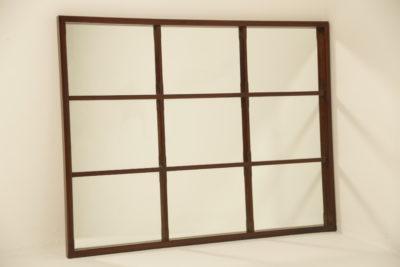 Mahogany 9 Panel Wall Mirror