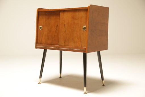 Rosewood Record Cabinet with Atomic Legs